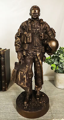 $87.99 • Buy Jet Fighter Pilot In Uniform Statue Military Figurine 12.5  Height By Summit