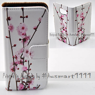 AU14.98 • Buy For LG Series Mobile Phone - Cherry Blossom Theme Print Wallet Phone Case Cover