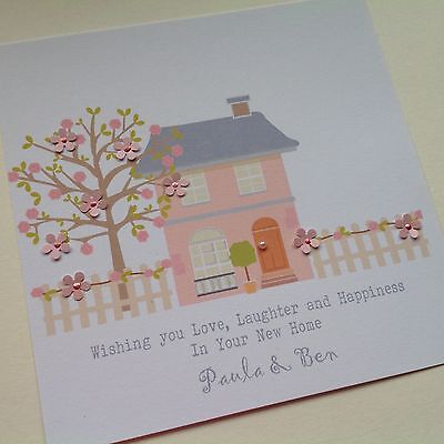 £3.80 • Buy PERSONALISED Handmade Congratulations NEW HOME Card