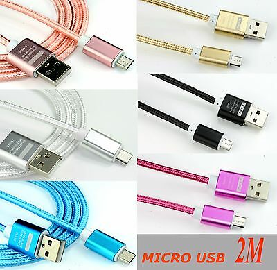 AU4.75 • Buy 2A 2m MICRO USB Data Sync Charger Cable For Samsung Galaxy Tab3 /,S6,S5,S4,