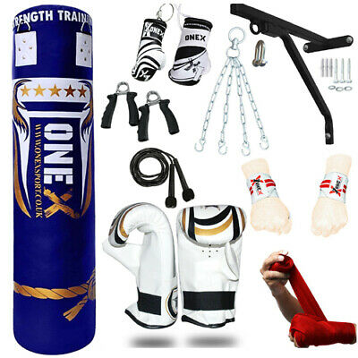 AU115.90 • Buy The 15 Piece Boxing Set 5ft Filled Heavy Punch Bag Gloves,Chains,Bracket,Kick