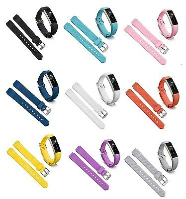 $ CDN6.02 • Buy For Fitbit Alta / Alta HR / Ace - Replacement Silicone Watch Strap Band Twill UK