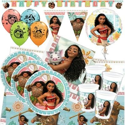 Disney Moana Maui Party Tableware (Cup, Plate, Napkin), Decorations And Balloons • 2.99£