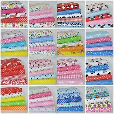 £7.65 • Buy Childrens Fabric Bundles Fat Quarters & Squares Craft Sewing  Poly Cotton