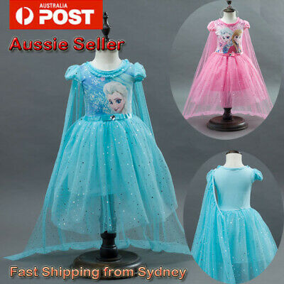 AU10.75 • Buy Girl Dress Costume Princess Queen Elsa Party Birthday Size 3-10Yrs