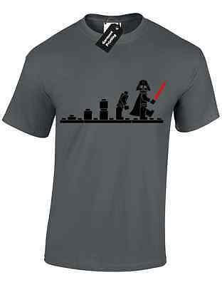 Darth Bricks Evolution Mens T Shirt Tee Star Inspired Amusing Wars  Casual Top • 6.99£