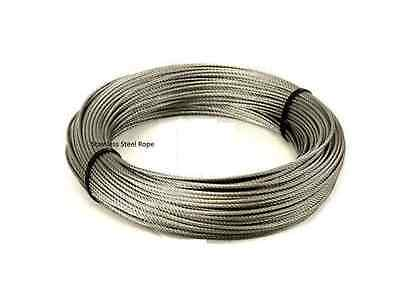 20m Strong Stainless Steel Wire Rope  (Plastic Coated)  • 4.95£