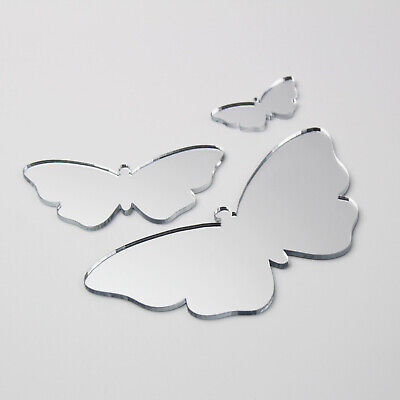 Butterfly Acrylic Mirror Home Bathroom Children' Babies Safety Wall Shatterproof • 4.90£