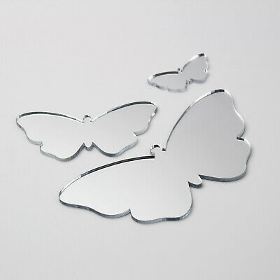 Butterfly Acrylic Mirror Home Bathroom Children' Babies Safety Wall Shatterproof • 2.99£