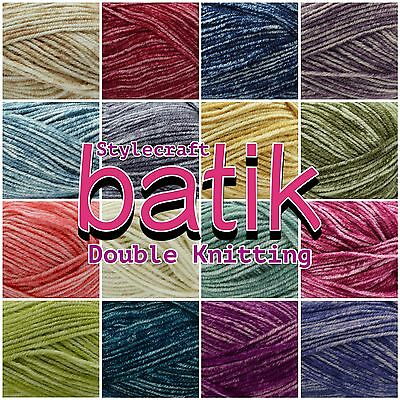 Stylecraft Batik Premium Acrylic + Wool Double Knit Knitting Wool Yarn 50g Ball  • 1.99£