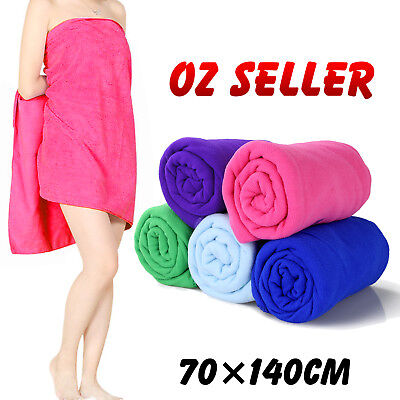 AU8.49 • Buy Microfiber Towel Gym Sport Footy Travel Camping Swimming Beach Bath Microfibre