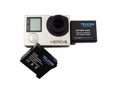 $ CDN26.12 • Buy Battery For GoPro HD HERO 4 Black  Camera / 2-Packs AHDBT403 Replacement