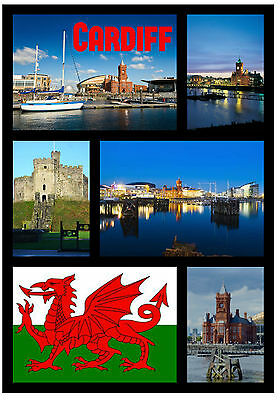£2.15 • Buy Cardiff, Wales - Souvenir Novelty Fridge Magnet - Sights / Flags - Gifts - New