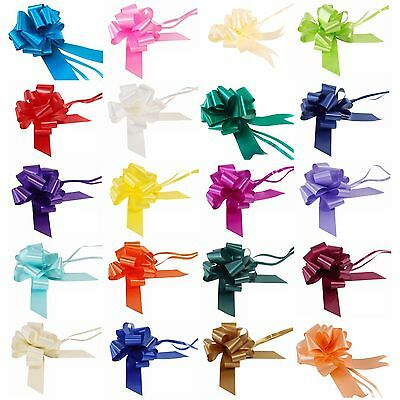 Pull Bows 50mm 30mm Large Small Florist Ribbon Wedding Car Decorations Gift Wrap • 1.49£