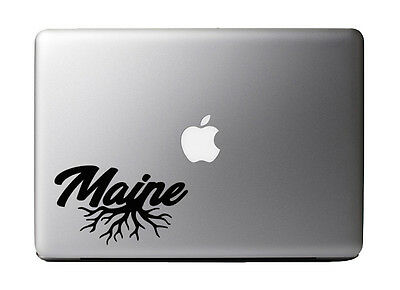 $7.99 • Buy Maine Roots City State Pride 5  Black Vinyl Decal Sticker For 13  Macbook