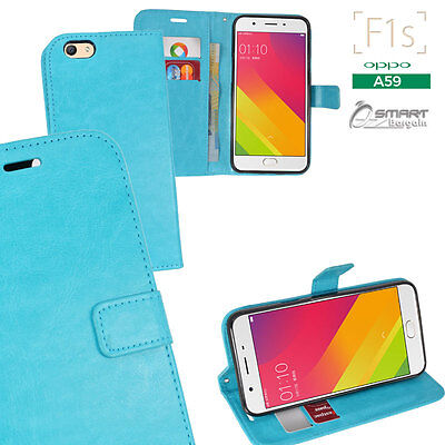 AU7.99 • Buy Aqu Wallet Flip Card Slot Stand Case Cover For Oppo F1s A59