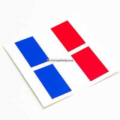 2x FRENCH FLAG France Tricolore Laminated Car,Bumper,Laptop Vinyl Decal Stickers • 1.99£