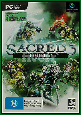 AU15.95 • Buy Sacred 3 First Edition PC Game ***Brand New/Sealed & AUS Stock ***