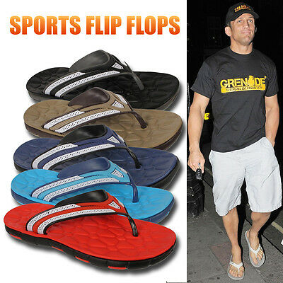 Mens Summer Holiday Gym Sports Casual Toe Post Flip Flops Pool Beach Sandals New • 4.99£