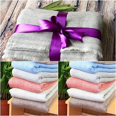 Pure Cashmere Throws Blankets Cashmere Wool Home Decor Home Bedding Sofa New • 77.99£
