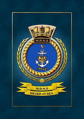 The Wrns Framed Crest / Badge - All Ships In Stock • 14.99£