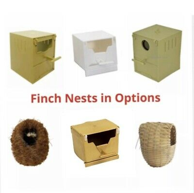 £7.95 • Buy Finch Nest Box / Nests IN OPTIONS Wicker / Plastic For Cage Finches With Hooks