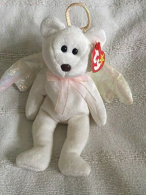 Original Ty Beanie Baby Rare Halo Bear (Brown Nose & Numbered) • 75£