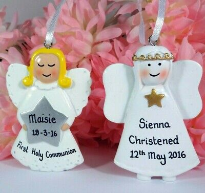 Personalised Angel Birth Christening Confirmation First Holy Communion Gift • 6.49£