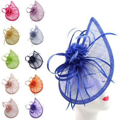 £18.99 • Buy New Large Headband And Clip Hat Fascinator Weddings Ladies Day Race Royal Ascot