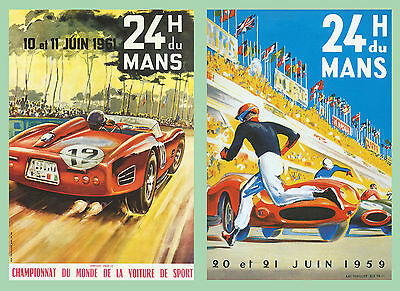 £11.99 • Buy Le Mans 1959 And 1961 Motor Racing Large A3 Size Poster Advert Sign Leaflet