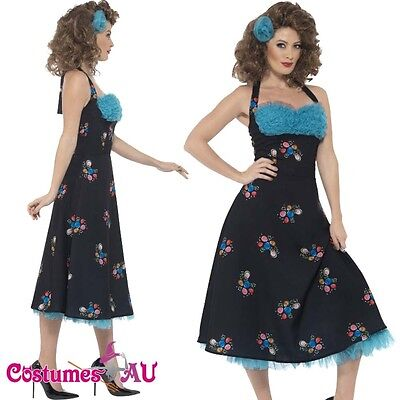 AU47.49 • Buy Ladies 50s Grease Costume Adult Cha Cha Digregorio Womens 1950s 50's Fancy Dress