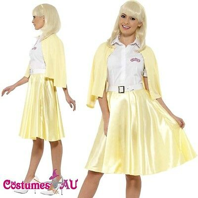 AU43.69 • Buy Ladies Grease Good Sandy Costume Licensed 1950s 50s Yellow Party Fancy Dress