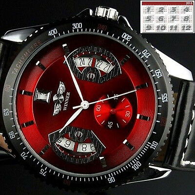 $22.99 • Buy Men's Sport Wrist Watch Automatic Date Stainless Steel Leather Strap Watches New