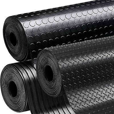 Rubber Flooring Garage Sheeting Matting Rolls 1M, 1.2M And 1.5M Wide X 3MM THICK • 17£