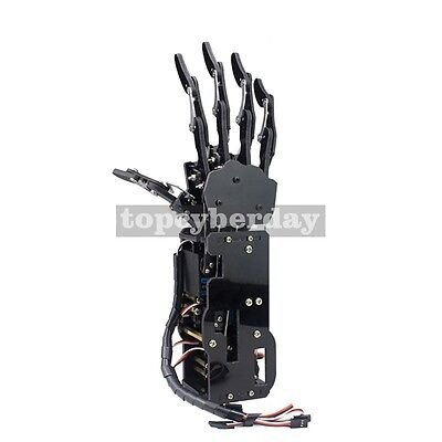 Assembled Acrylic Mechanical Robot Arm Claw Humanoid Right Hand  & Servos DIY • 97.05£