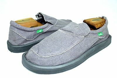 Sanuk Mens Chiba Stiched Grey Sidewalk Surfer Shoes Size 9 Us • 27.84£
