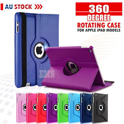 AU10.49 • Buy 360 Rotate Leather Case Cover For Apple IPad 2 3 4 7th 6th Gen Air 1 2 Mini 2 3
