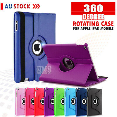 AU7.99 • Buy 360 Rotate Leather Case Cover For Apple IPad Mini 2 3 4 8th 7th 6th Gen Air 1 2