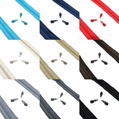 £2.18 • Buy High Quality Nylon Spiral Coil Zip No 5 Continuous Zipper Tape ✄ 9 Colours ✄ C2O