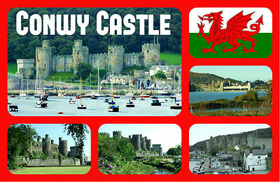 £2.15 • Buy Conwy Castle, Wales - Souvenir Novelty Fridge Magnet - Sights / Flags - Gifts
