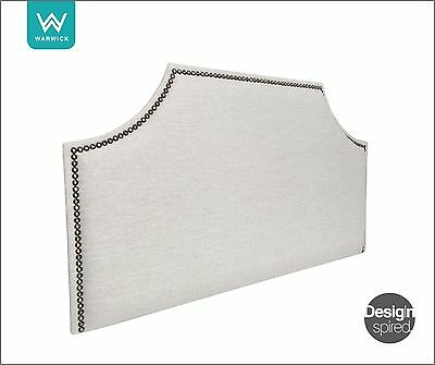 AU439 • Buy THOMAS Brass Upholstered Headboard / Bedhead For Ensemble Bed