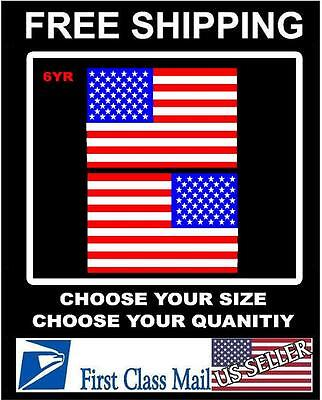 $5.88 • Buy RIGHT & LEFT American Flag USA Mirrored Vinyl Decals Boat Truck Car/sticker 3m