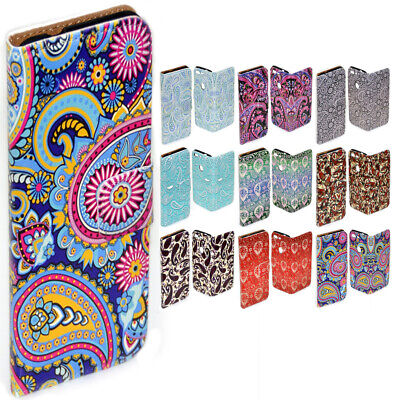 AU14.98 • Buy For OPPO Series Paisley Pattern Theme Print Wallet Mobile Phone Case Cover #1