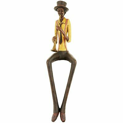 £29.99 • Buy Resin Sitting Jazz Band Trumpeter Brown Yellow Figurine Ornament 39cm