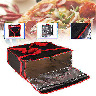 PIZZA DELIVERY BAGS (20 X 20 X 7 ) Full Insulated Heavy Duty Red & Black • 19.29£