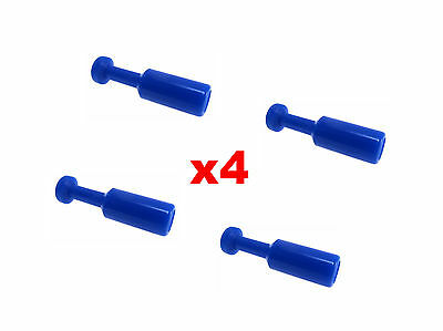 4x Nylon Pneumatic BLANKING PLUG Push-fit Hose Inline Air-line Airline Connector • 1.12£