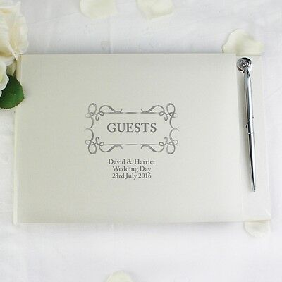 Personalised Guest Book & Pen Wedding Guestbook Bed & Breakfast Hotel Reception • 21.89£