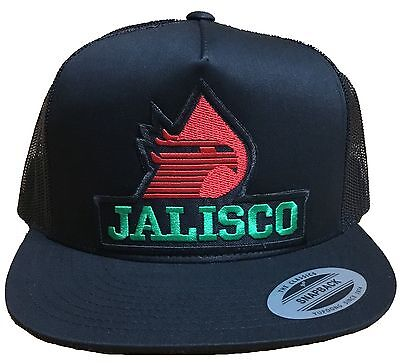 08472b825a62f Jalisco Pemex Mexico Baseball Hat Mesh Trucker Color Black Snap Back New Hat  • 15.00