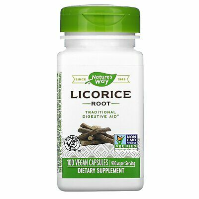 £14.95 • Buy Licorice Root Extract - 100 Capsules By Nature's Way - Digestive System Support