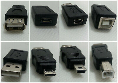 £3.61 • Buy USB To Adapter Female Male 3.0 Plug Type A B Micro Mini Switch Ethernet C 3.1